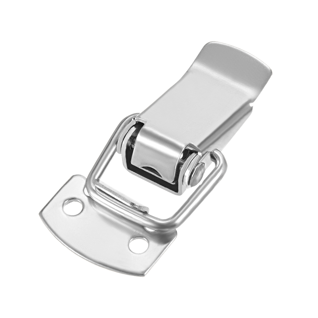 Uxcell 8 Pcs 304 Stainless Steel Spring Loaded Toggle Case Box Chest Trunk Latch Catches Hasps Clamps, 49mm Overall Length