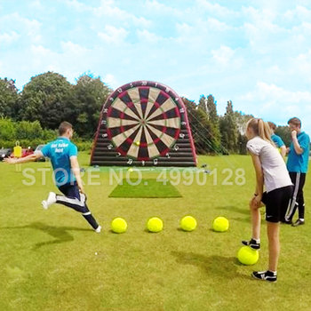 Free shipping & Pump 3m/4m/5m Giant Inflatable Dart Target Board for Shooting with Dart Soccer Football Ball free shipping 1 5m pvc inflatable mirror ball for sale