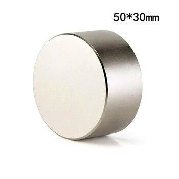 Neodymium Magnet 50x30 N52 Super Strong Rare Earth Round Magnet 50 * 30mm Magnetic Permanent Strong Neodymium Magnet Hot Sale 1pc round block magnet 60 30mm super strong neodymium magnet permanent rare earth magnet