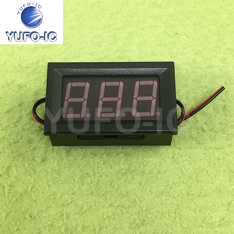 Free Ship 1PCS 0.56 Led Two-Wire AC Digital Display Digital Voltmeter Head Ac220v Mains 70V ~ 500V