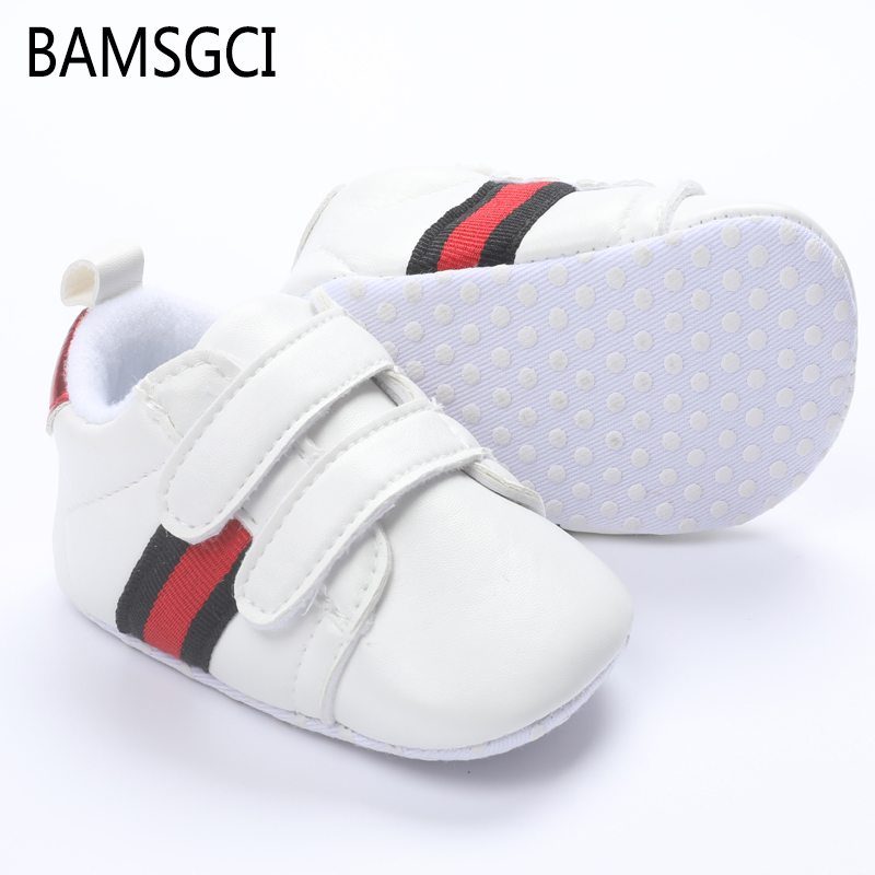 New Fashion Patch White Blue Newborn Baby Boy Girl Shoes Casual Soft Bottom Non-slip Breathable Infant Toddler Shoes 0-18 Months