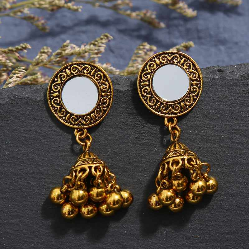 Crazy פנג גדול הצהרת תכשיטי סטים לנשים זהב נחושת קולר שרשראות עגילי סט חתונת מסיבת תכשיטי אבזרים