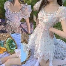 Princess sweet lolita blouse Bobon21 Pattern super sweet and fashion blouse little flower Waist Chiffon blouse women TD1882