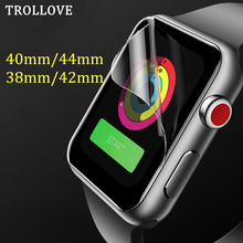 Защитная пленка для экрана для iWatch 5 4 40 мм 44 мм для Apple Watch 3 2 38 мм 42 мм(не закаленное стекло