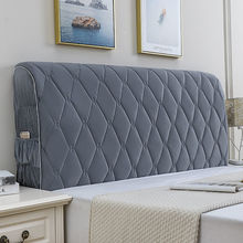 QUILTED-HEAD-COVER Dust-Protector Bed-Back Velvet Home Luxury Modern Thicken Soft