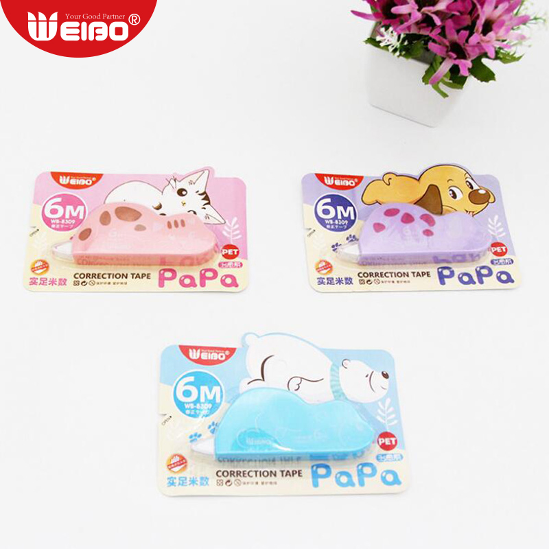 6 Meters Cartoon Correction Tape School Stationery For School Supplies Kawaii Students Writing Correction Tapes