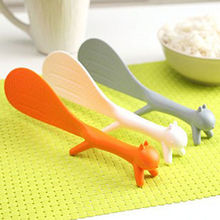 Supplie Kitchen Ladle Meal-Spoon Rice-Paddle Non-Stick 1PCS Squirrel-Shaped Large-Size