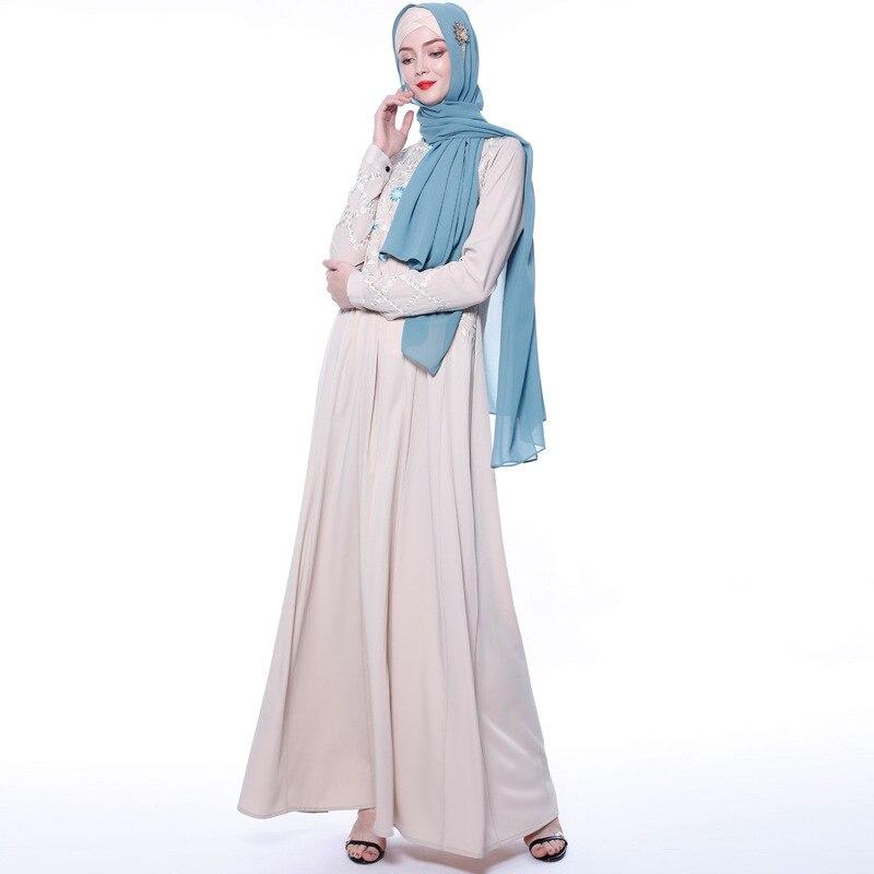 Abayas for Women Islam Caftan Marocain Dresses Vestidos European Clothing Kaftan Dubai Abaya Turkey Muslim Femme Musulmane 5