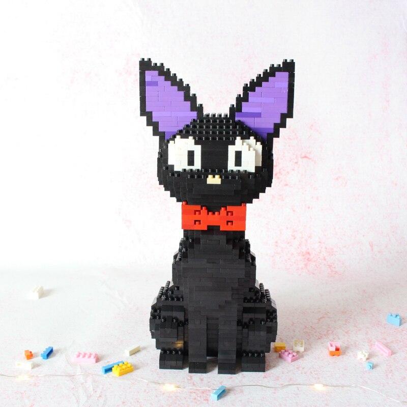 Image 2 - Babu 8806 Cartoon JiJi Black Cat Sit Animal Pet 3D Model 1780pcs DIY Diamond Mini Building Blocks Bricks Toy for Children no BoxBlocks   -