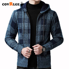 Covrlge мужской кардиган с капюшоном свитер куртка бархатный