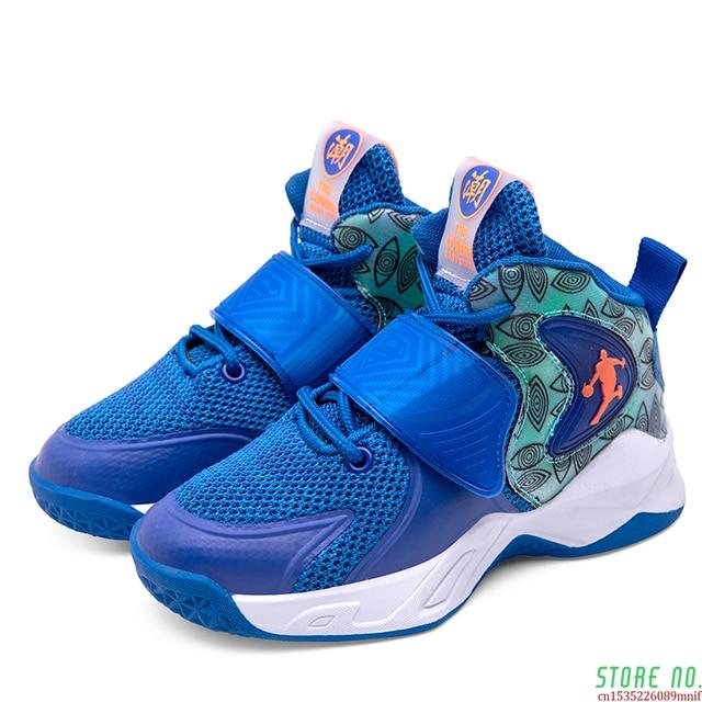 Zapatillas deportivas de baloncesto para niños, Zapatos altos de marca para gimnasio, botas de baloncesto para jóvenes, novedad 4