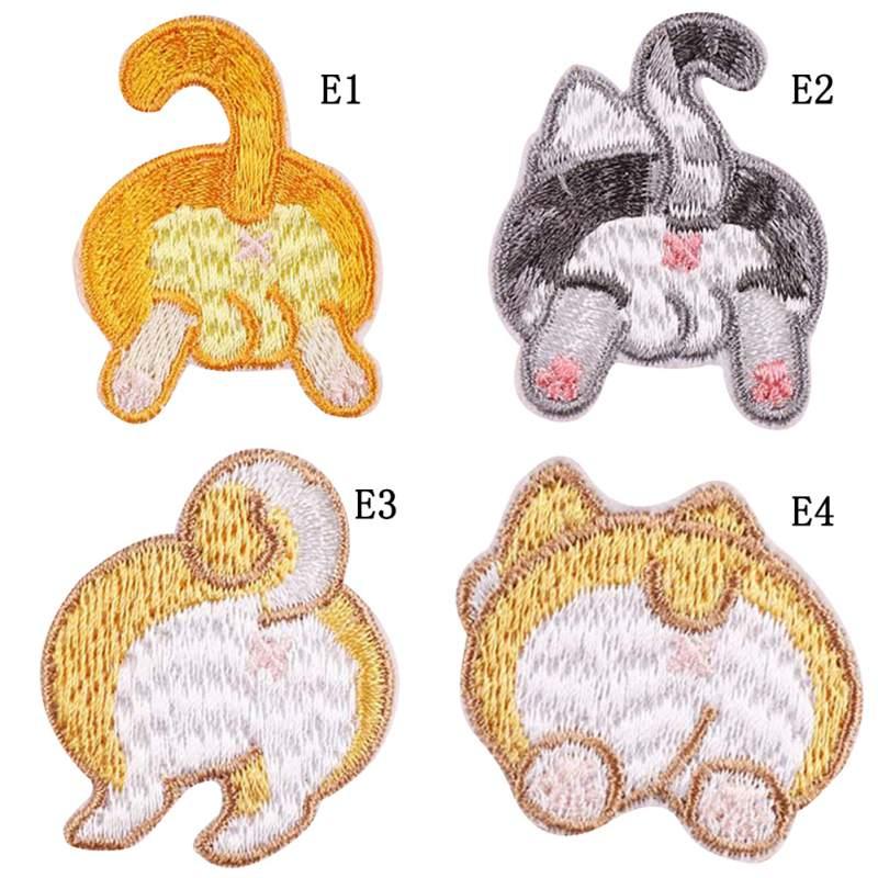 Autocollants en tissu brodé dessin animé mignon animaux fond vêtements décoration Patch autocollants New2