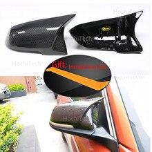 Para bmw série 3 gt 3gt f34 2013 - 2018 carro auto retrovisor espelho lateral capa guarnição estilo fibra de carbono