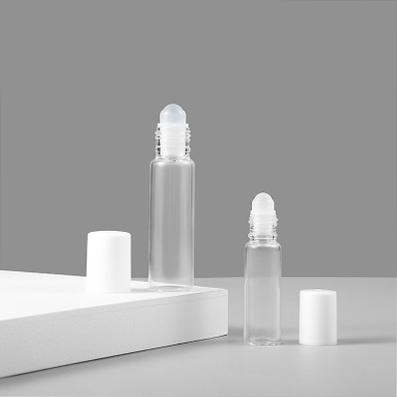 5pcs 5/10ml Roll On Roller Bottle Clear Glass Empty Roller Ball Refillable Aromatherapy Perfume Roll-on Bottles Container