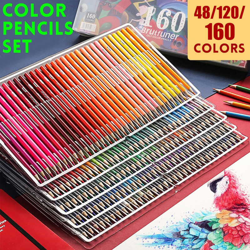 Color Drawing Pencils Oil Colored Pencil Set Artist Convenience Painting Sketching Pencil Art Newest Supplies 48/120/160