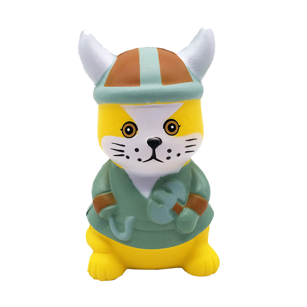Mini Adorable Pirate Cat Slow Rising Fun Stress Reliever Decompression Toy Gift Simulation Cartoon Toys Anti-anxiety Toys #B