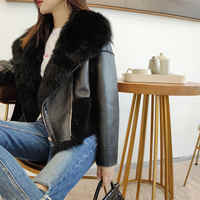 Best Natural Fur Jackets Woman Real Fur Coat For Women's New Genuine Sheepskin Leather Fur Overcoat Warm Double Face Shearling