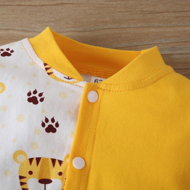 Newborn baby boy romper 2pcs set cotton cute cartoon animal