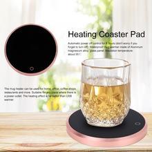 15 Вт умный сенсорный термостат, чай, кофе, молоко, нагревательная изоляционная база, чайный горшок, грелка для офиса, дома, чайная плита, стеклянная чашка, нагреватель