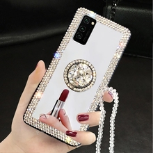Lustro diamentowa skrzynka dla Samsung Galaxy S20 Ultra S10 S8 S9 uwaga 20 10 Plus A71 A51 A21 A01 A70 A50 A41 A30 A20s A10s miękka okładka tanie tanio Eurynome CN (pochodzenie) Częściowo przysłonięte etui Kurzoodporny Brokat Odblaskowy ZDOBIONE Zwykły Mirror Diamond Case for Samsung Galaxy A71
