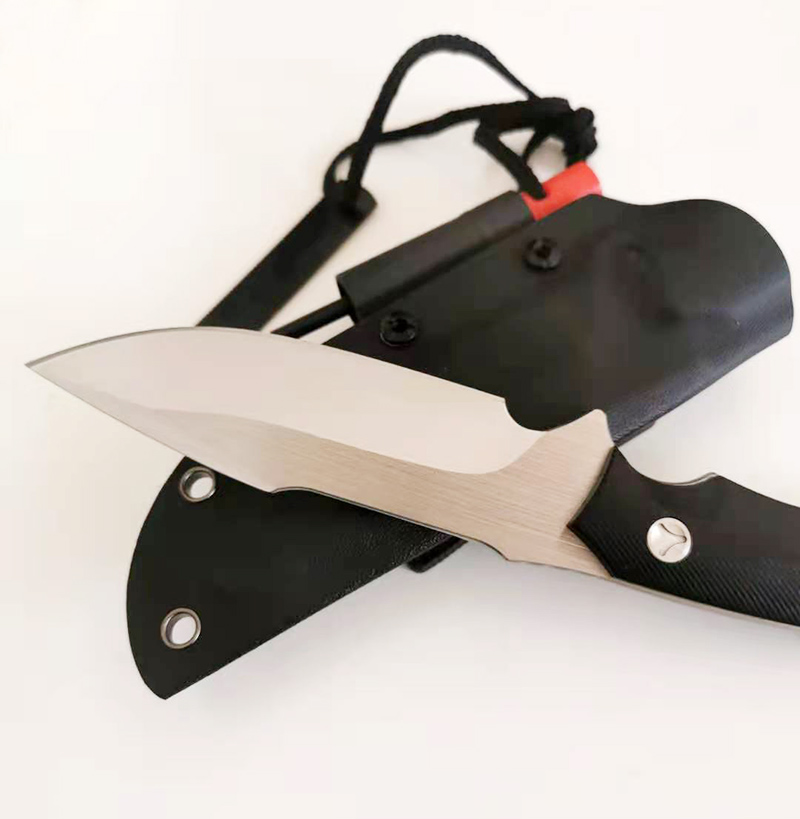 G10 Free Knife Camping Handle Blade  Knife Sharp Survival Shipping Steel Tactical Outdoor Hunting Handmade Fixed Knife Knife