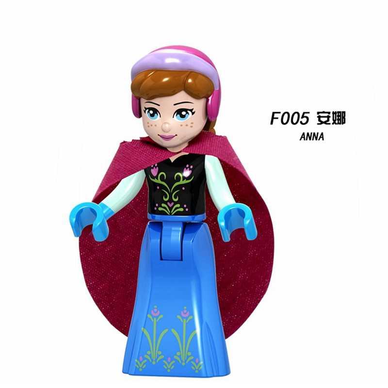 أصدقاء الأميرة أرقام أوليفيا ميا إيما أندريا إلسا آنا ألعاب مكعبات البناء متوافق مع صديق للبنات هدايا