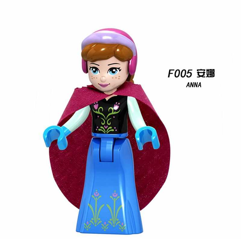 Friends Princess Figures Olivia Mia Emma Andrea Elsa Anna Building Blocks Toys Compatible With Legoingly Friend for Girls Gifts