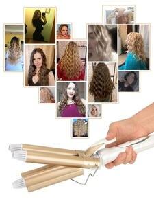 Curler Electric Barrel-Hair-Styler Iron Styling-Tools Ceramic Triple 41D 110-220v-Hair