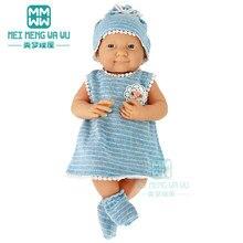 Bebek için bebek giysileri fit 43 cm yeni dünyaya bebek aksesuarları bebek onesies, şapka, çorap