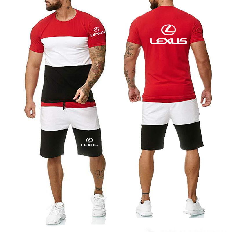 Men's short sleeve Lexus Car Logo Print Casual Cotton Short Sleeve high...