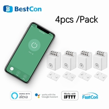BroadLink BestCon 4 stücke pack MCB1 Hände Frei Wifi modular Control Box Switch Home Automation Alexa Google Assistent Voice Control