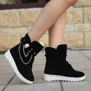 Image 3 - 2020 חורף חדש שלג מגפי נשים של מגפי נשים של צינור מזדמן קשת שלג מגפיים חם קר שריפת רגליים נשים של מגפי כותנה נעליים