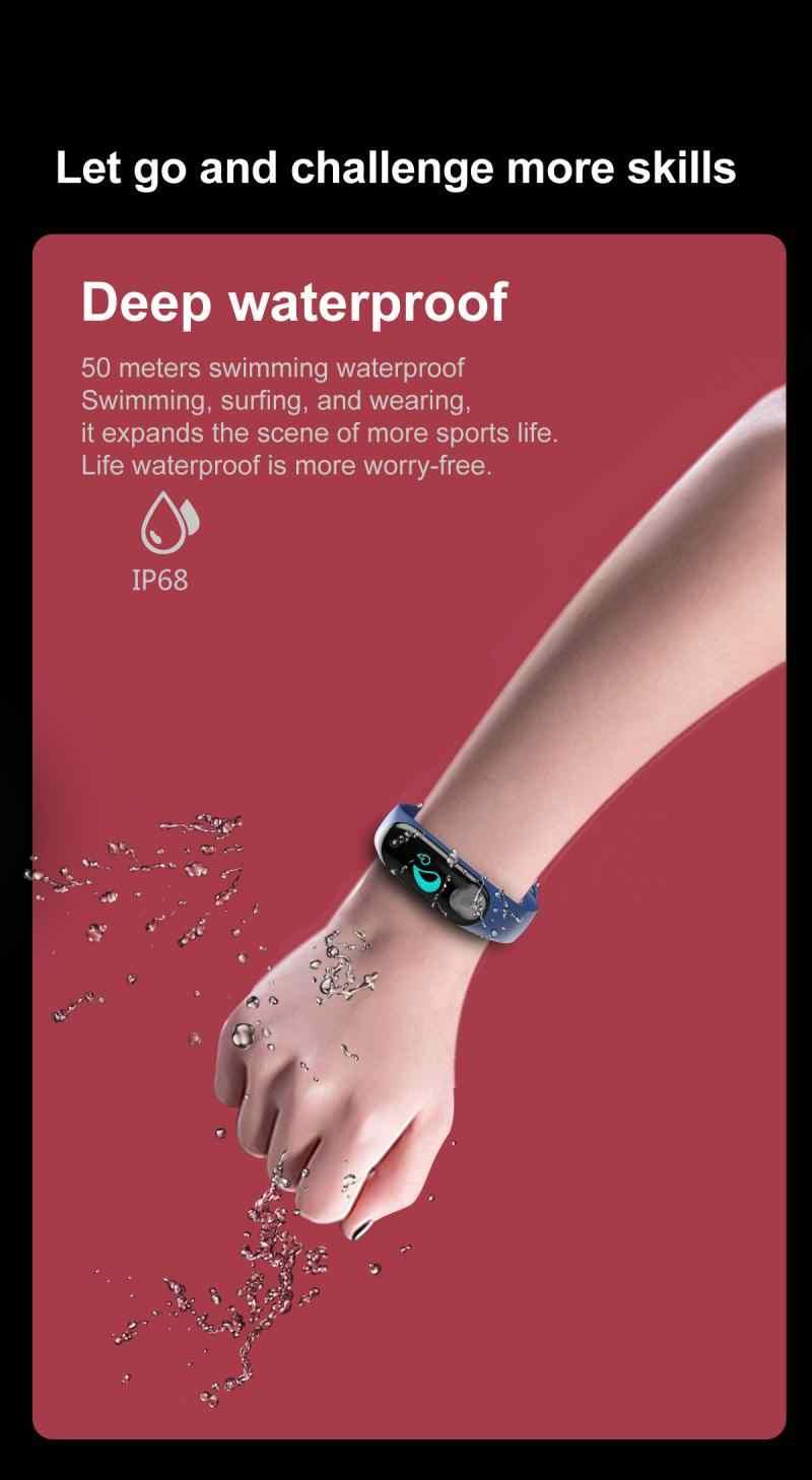 עמיד למים Smartwatch M4 חכם שעון Bluetooth צמיד לב קצב דם לחץ מבחן כושר גשש ספורט שעון