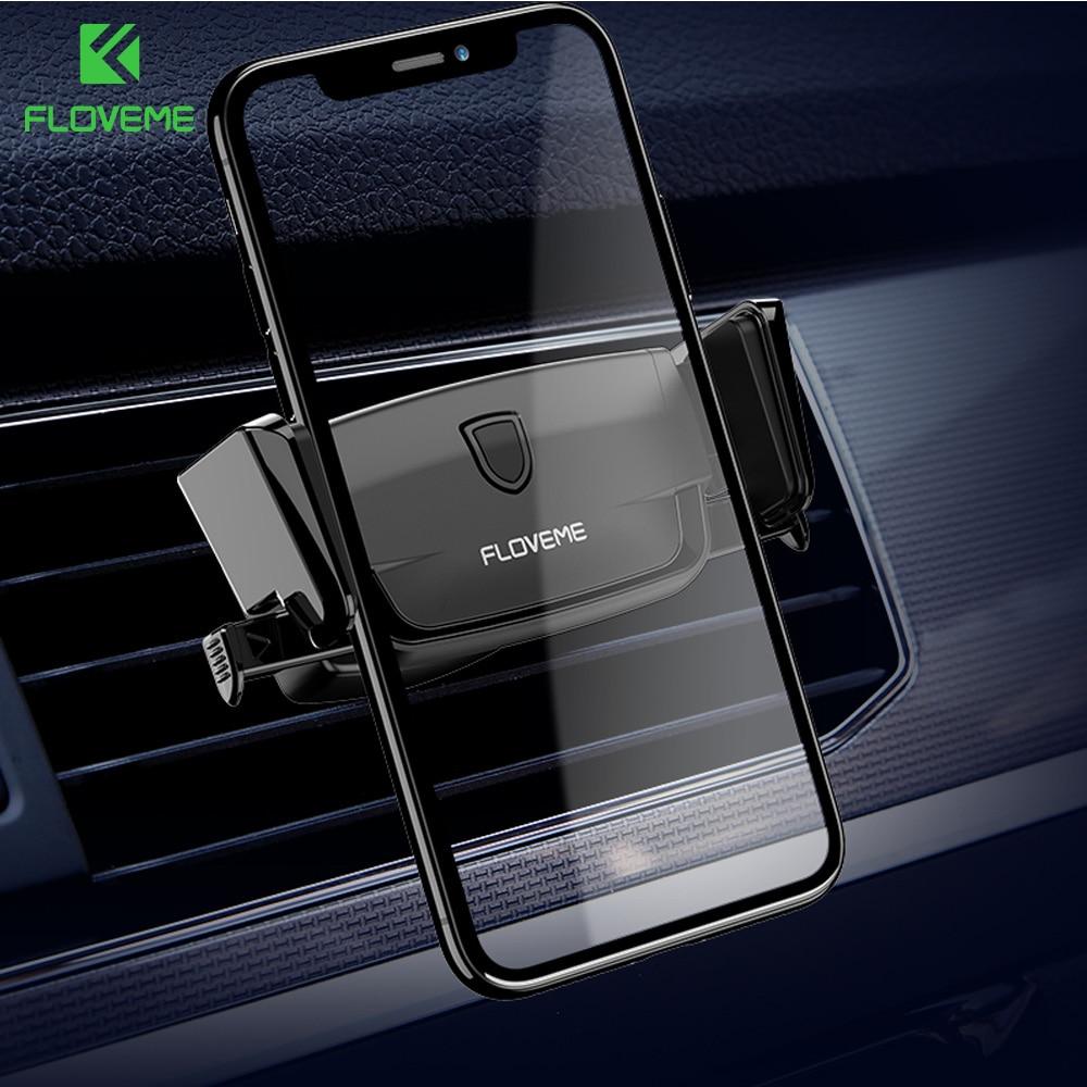 FLOVEME Auto Car Phone Holder 360 Degree Rotate Gravity Suporte Celular Stand Air Vent Mount Mobile Holder For IPhone Samsung