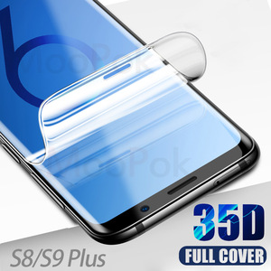 35D Hydrogel Film For Samsung Galaxy S9 S8 Plus S10 Plus Lite Screen Protector For Samsung A50 A40 Note 8 9 10 Soft Film(China)