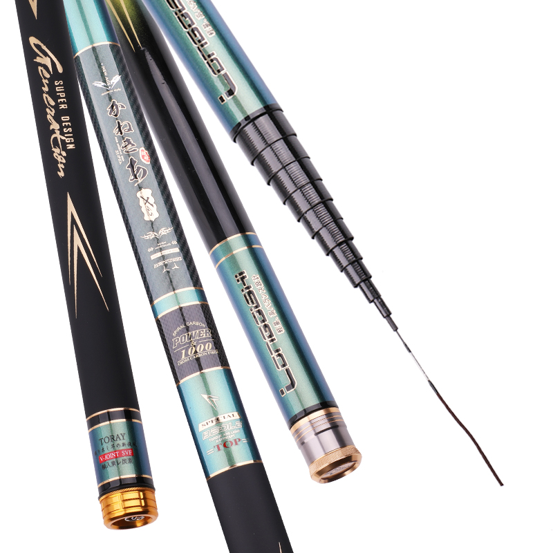 8/9/10/11/12/13m Taiwan Fishing Rod Ultra-light And Ultra-hard Carbon Fishing Olta Hand Pole Telescopic Fish Canne Vara De Pesca