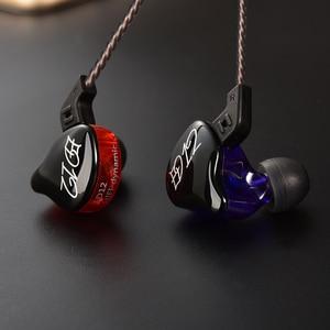 Image 3 - KZ ED12ที่กำหนดเองหูฟังสไตล์เคเบิ้ลถอดในหูเสียงจอภาพเสียงแยกไฮไฟเพลงกีฬาหูฟังกับไมโครโฟน
