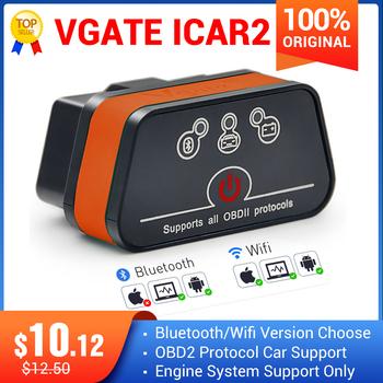 Vgate iCar2 ELM327 obd2 skaner Bluetooth elm 327 V2 1 obd 2 wifi icar 2 automatyczny skaner diagnostyczny dla Androida komputera IOS czytnik kodu tanie i dobre opinie KINGBOLEN CN (pochodzenie) Other english Czytniki kodów i skanowania narzędzia car diagnostic cable obd code reader scanner