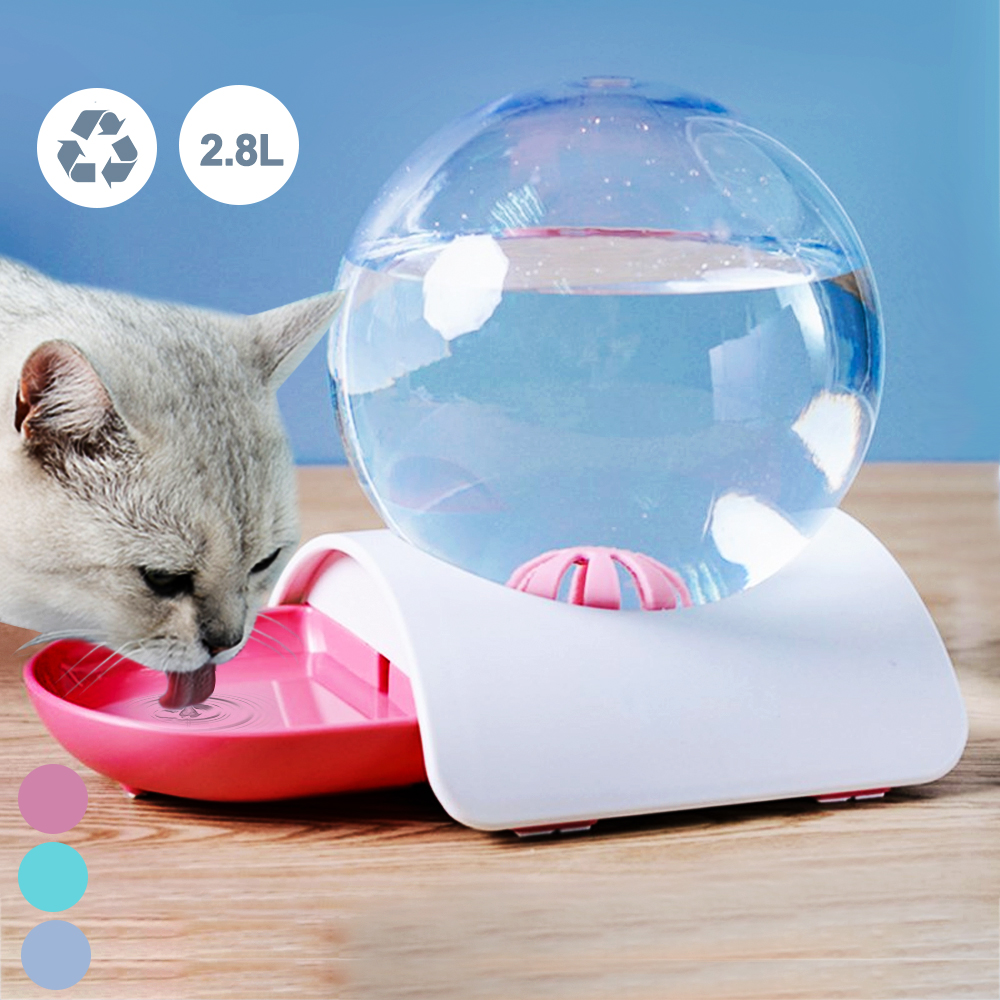 2.8L Large Capacity Automatic New Bubble Pet Dog Cat Feeder Dish Water Drinking Bowl Food Bowl Auto Dispenser Feeding Container