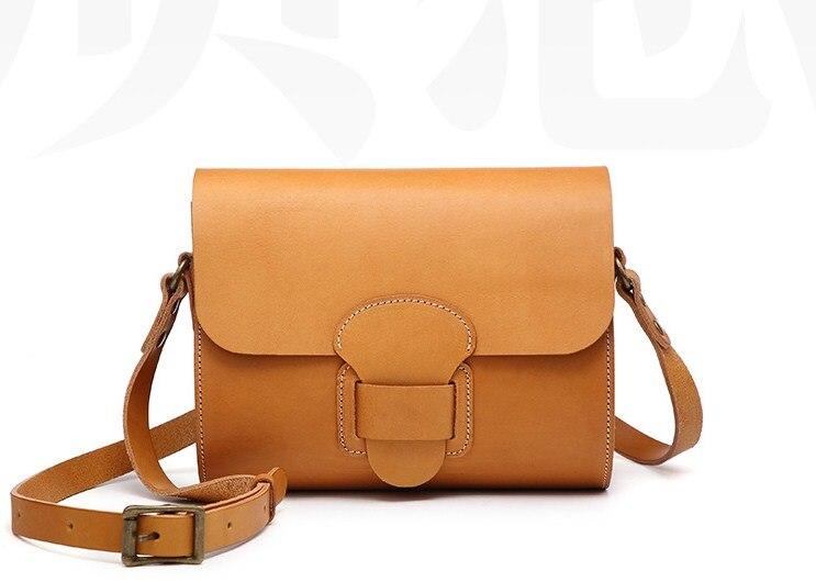 Genuine leather cow skin square crossbody bag handamade for women