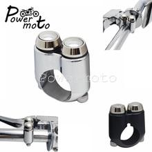 "22mm/25mm Motorrad 1 ""7/8"" Lenker Schalter Universal Für Motorrad Bike Cafe Racer Moto Getriebe gehäuse Dual Momentary Tasten"