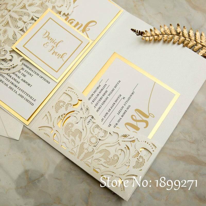 Partecipazioni Matrimonio I Love You.50pcs Partecipazioni Matrimonio Royal Wedding Invitations Card