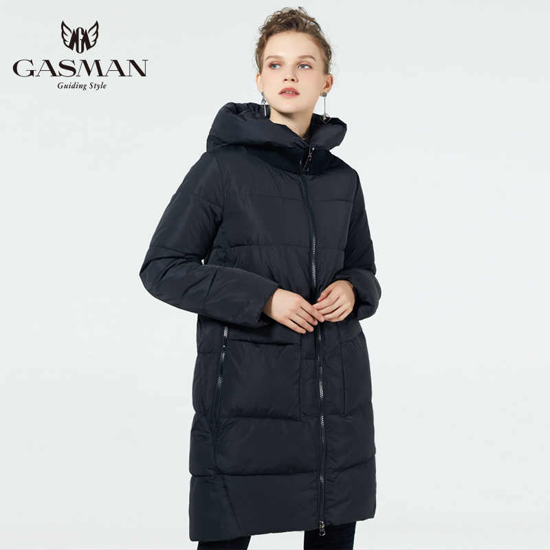 GASMAN 2019 Modieuze Jas Neer vrouwen Hooded Warm Parka Bio Pluis Jas Plus Size 5XL 6XL Vrouwelijke Nieuwe Winter collectie
