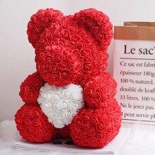 Искусственные цветы Роза медведь многоцветный пластик пена Роза плюшевый медведь подружка День Святого Валентина подарок день рождения украшение