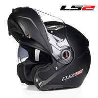 Original ls2 ff370 modular moto rcycle capacete flip up homem mulher com dupla viseira capacete ls2 casco moto cascos para moto