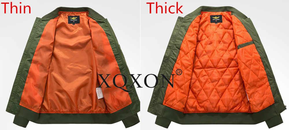 XQXON-2020 novo airbus a380 design casacos masculinos jaquetas de alta qualidade homem piloto jaqueta à prova frio casaco masculino j721
