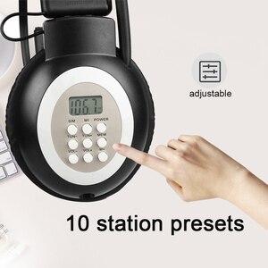 Image 5 - Retekess TR101 ווקמן אוזניות רדיו FM סטריאו אוזניות רדיו מקלט דיגיטלי FM שמיעה מגן Earmuff תמיכה AUX קלט