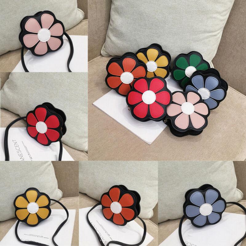 New Fashion Cute Toddler Kids Girls Flower Shoulder Purse Tote Purse Crossbody Bags