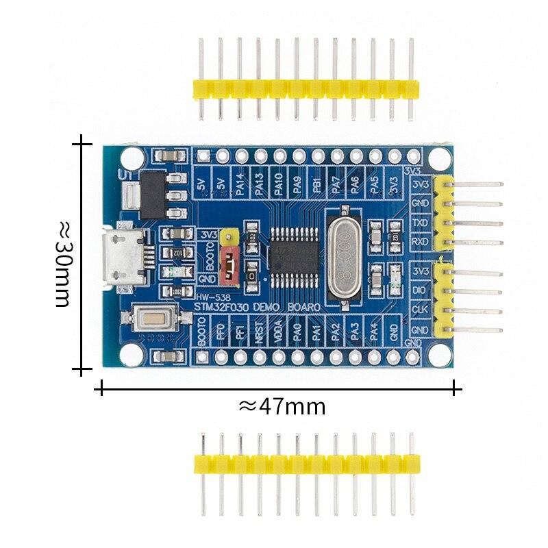 Stm32f030f4p6 mini placa de desenvolvimento do sistema braço CORTEX M0 núcleo swd/isp microusb|Circuitos integrados|   -