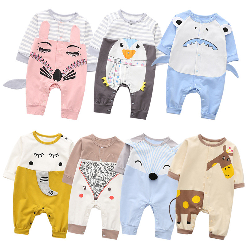 Infant Newborn Baby Boy Girls Rompers Spring Autumn Baby Boys Cotton Clothes Toddler Jumpsuit Playsuit Kids Outfit 2020 New